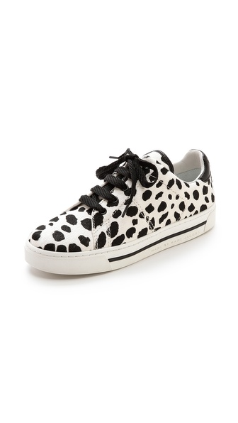 Shop Marc by Marc Jacobs online and buy Marc By Marc Jacobs Haircalf Low Top Sneaker - White/Black - Patterned haircalf makes a daring statement on casual Marc by Marc Jacobs sneakers. Lace up closure. Rubber sidewall and sole. Fur: Dyed haircalf (cow), from Vietnam. Imported, China. This item cannot be gift boxed. THIS ITEM CANNOT BE SHIPPED OUTSIDE THE USA. Available sizes: 35,36,37,38,41