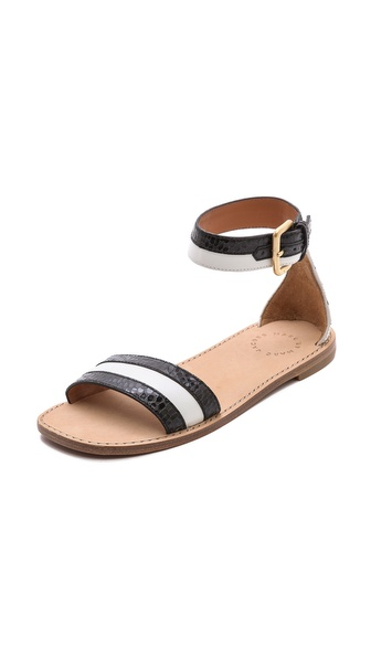 Marc by Marc Jacobs Striped Flat Sandals