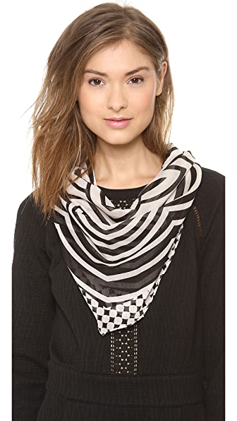 Marc by Marc Jacobs Radio Waves Diamond Scarf
