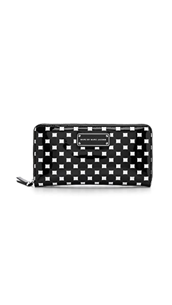 Marc by Marc Jacobs Techno Block Print Slim Zip Wallet