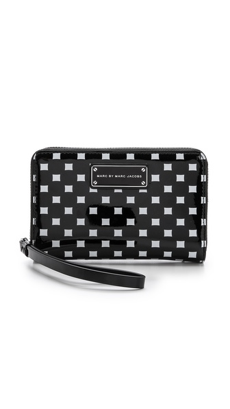 Marc By Marc Jacobs Techno Block Print Mildred Wallet - Black Multi at Shopbop / East Dane