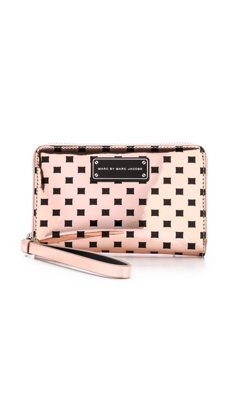 Marc By Marc Jacobs Techno Block Print Mildred Wallet - Pale Buff Multi at Shopbop / East Dane