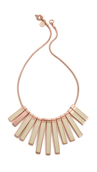Marc by Marc Jacobs Geometric Stick Bib Necklace