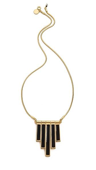 Marc by Marc Jacobs Geometric Enamel Stick Trapeze Necklace