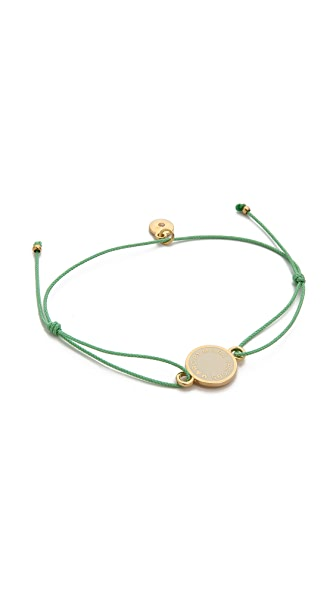 Marc by Marc Jacobs Enamel Logo Disc Friendship Bracelet