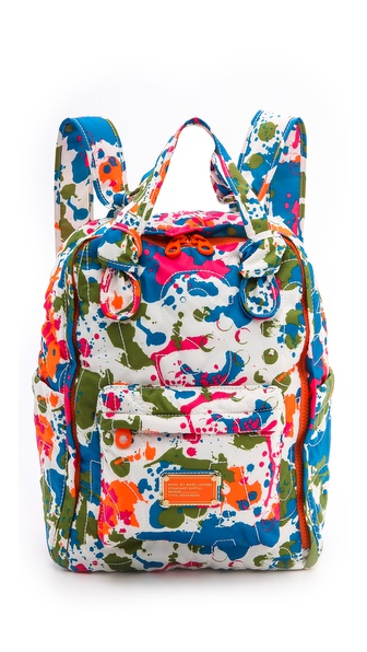 Marc by Marc Jacobs Pretty Nylon Paint Blob Pretty Knapsack