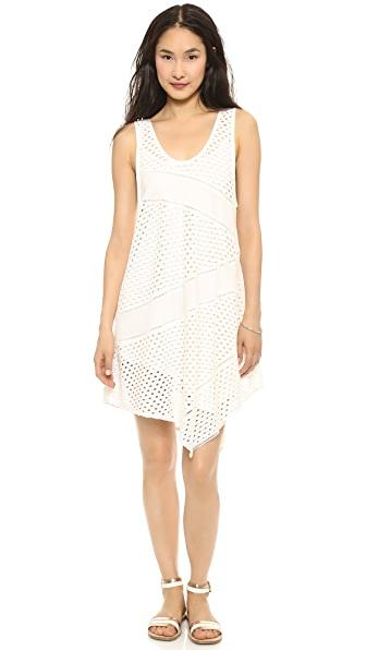 Marc by Marc Jacobs Yuki Eyelet Asymmetrical Tank Dress