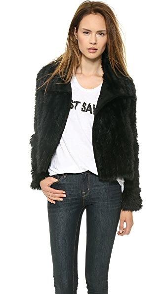 Marc by Marc Jacobs Abbey Rabbit Fur Jacket