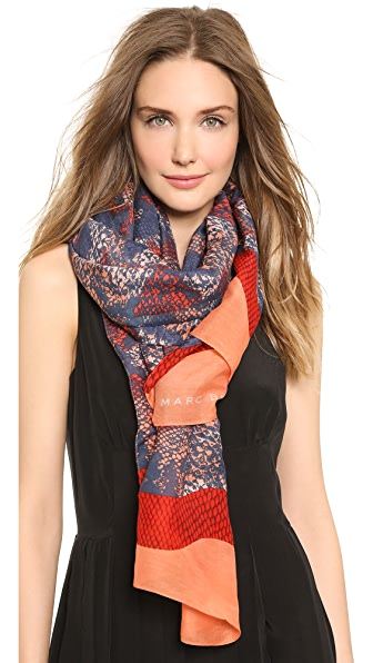 Marc by Marc Jacobs Spray Paint Snake Print Scarf