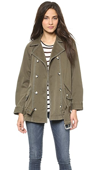 Marc by Marc Jacobs Zeta Twill Jacket with Belt