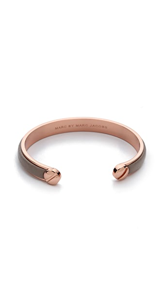 Marc by Marc Jacobs Screw Leather Cuff Bracelet
