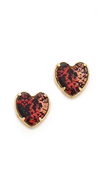 Marc by Marc Jacobs Heart Snake Stud Earrings