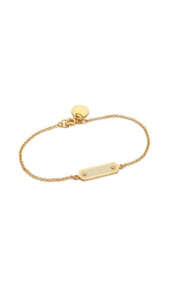 Marc by Marc Jacobs Tiny Enamel Plaque Delicate Bracelet