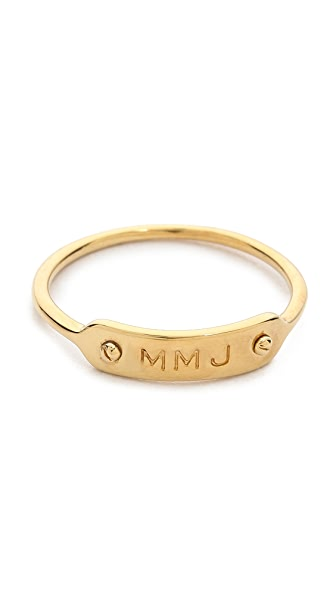 Marc by Marc Jacobs MMJ Plaque Ring