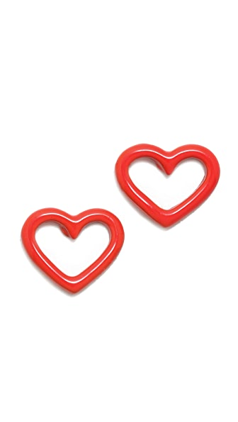 Marc by Marc Jacobs Open Heart Stud Earrings