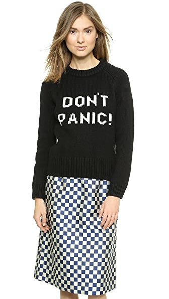 Marc By Marc Jacobs Don'T Panic Sweater - Black Multi