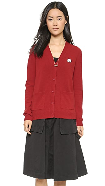 Marc By Marc Jacobs Iris Cardigan - Red Pepper Multi