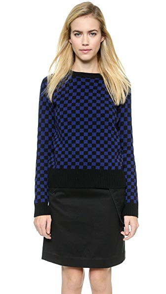 Marc By Marc Jacobs Checkerboard Sweater - Black Multi