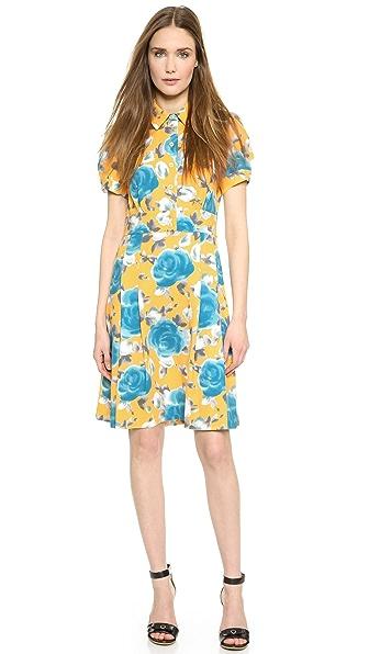 Kupi Marc by Marc Jacobs haljinu online i raspordaja za kupiti Marc By Marc Jacobs Jerrie Rose Crepe Dress Yellow Jacket Multi online