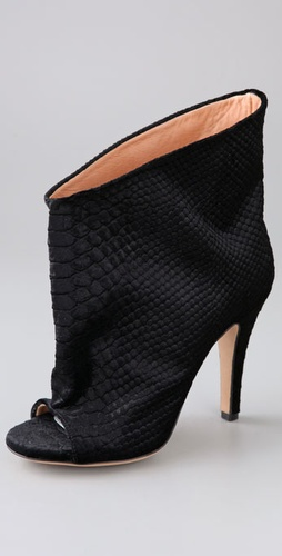 Maison Martin Margiela Printed Python Slouch Velvet Booties