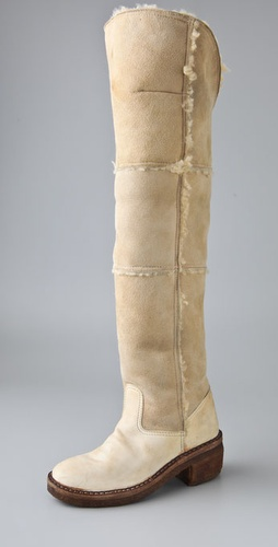 Maison Martin Margiela Replica Over the Knee Shearling Boots