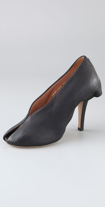 Maison Martin Margiela Open Toe Skirted Pumps