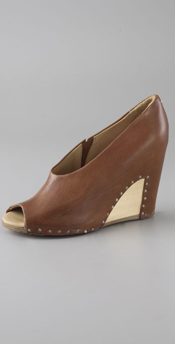 Maison Martin Margiela Open Toe Wedge Pumps