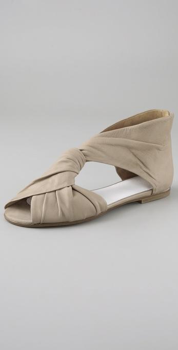 Maison Martin Margiela Twist Front Flat Sandals