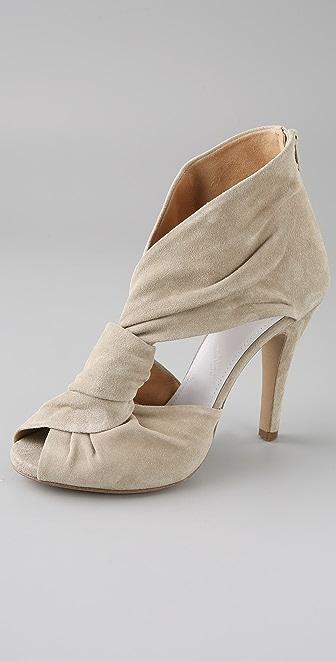 Maison Margiela Twist Front Suede Sandals