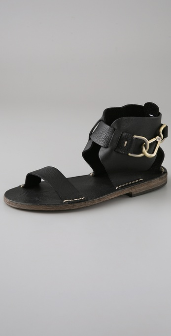 Maison Martin Margiela Hook Buckle Flat Sandals