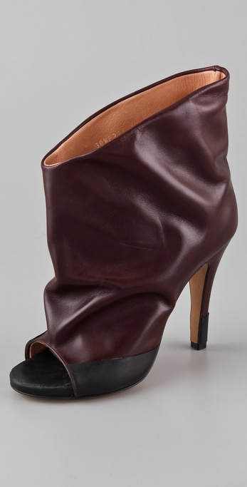 Maison Martin Margiela Open Toe High Heel Booties