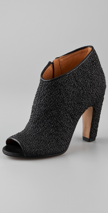 Maison Martin Margiela Woven Rubber Open Toe Booties