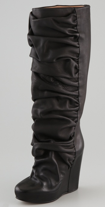Maison Martin Margiela Draped Wedge Pull On Boots