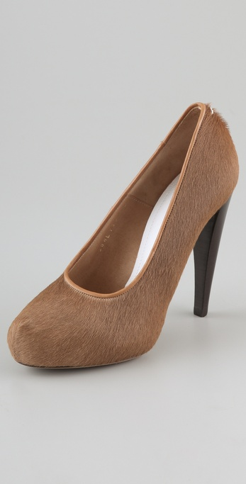 Maison Martin Margiela Haircalf Hidden Platform Pumps