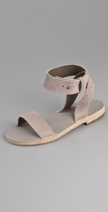 Maison Martin Margiela Ankle Wrap Flat Sandals