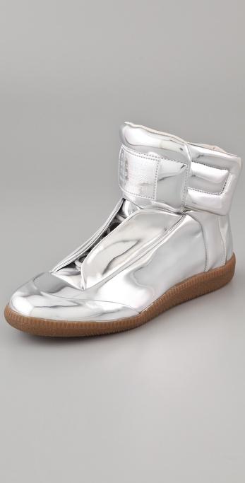 Maison Martin Margiela Metallic Flat Sneakers