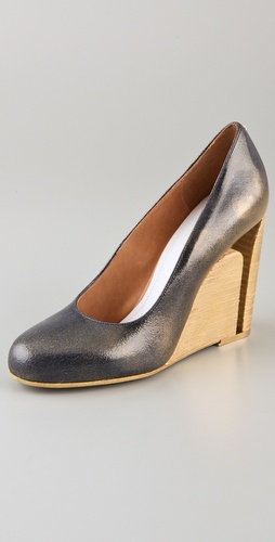 Maison Martin Margiela Cutout Heel Wedge Pumps