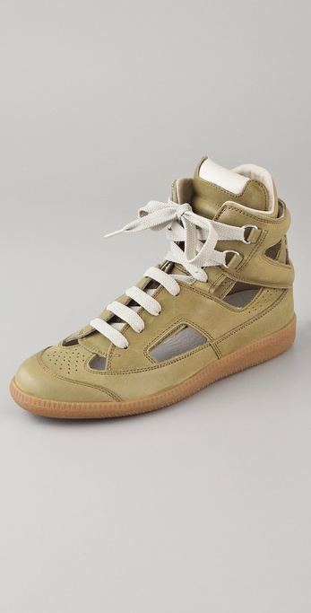 Maison Martin Margiela Cutout High Top Sneakers