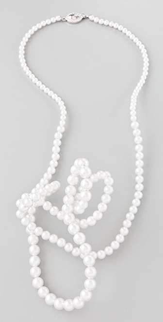 Maison Margiela Twisted Pearl Necklace