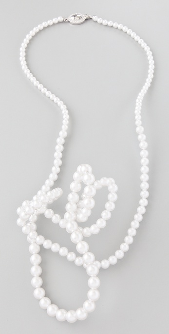 Maison Martin Margiela Twisted Pearl Necklace