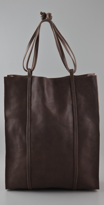 Maison Martin Margiela North South Leather Tote Bag