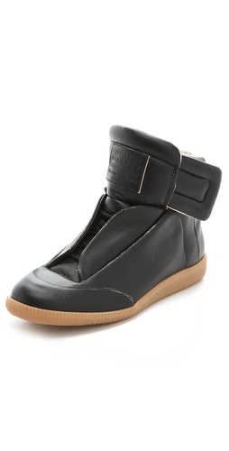Maison Martin Margiela Leather Flat Sneakers at Shopbop.com
