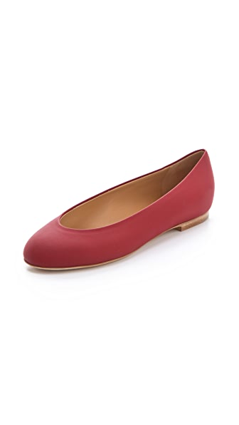 Maison Martin Margiela Rubberized Leather Flats