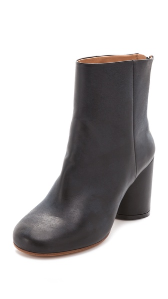 Maison Martin Margiela Round Heel Back Zip Booties