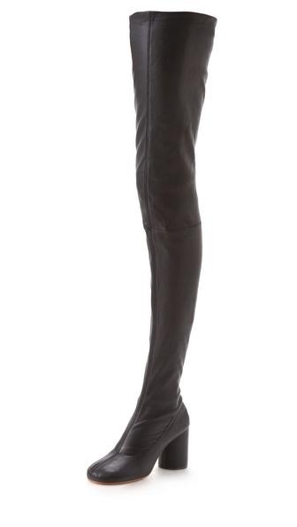 Maison Martin Margiela Thigh High Round Boots