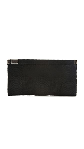 Maison Martin Margiela Haircalf Zip Lock Clutch