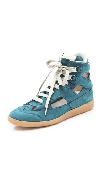 Maison Martin Margiela Suede Cutout Sneakers