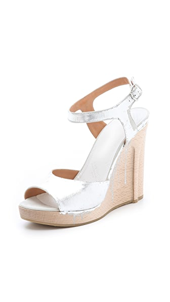 Maison Martin Margiela Strappy Metallic Sandals