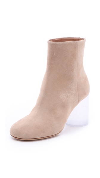 Maison Martin Margiela Plexi Round Heel Booties