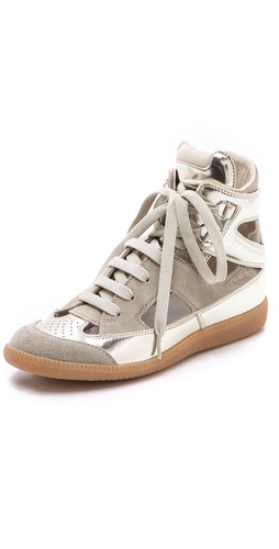 Maison Martin Margiela Cutout Suede Sneakers at Shopbop.com